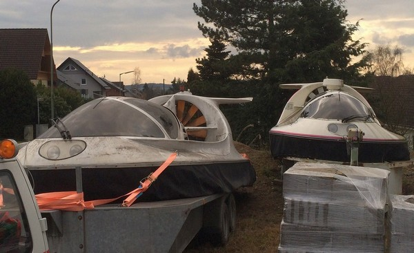 Recovered Wildcat Hovercraft