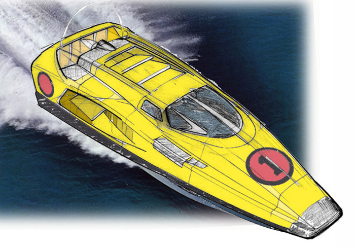 IO-Design High speed Hovercraft
